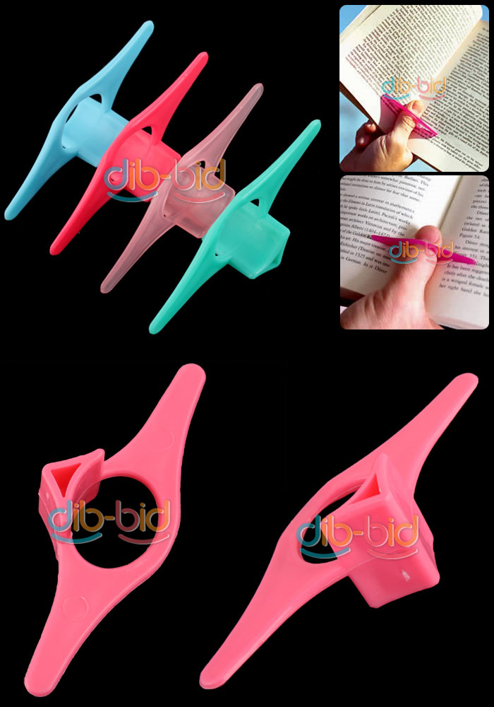 10Pcs Multifunction Thumb Thing Book Page Holder Finger Ring Bookmark Plastic