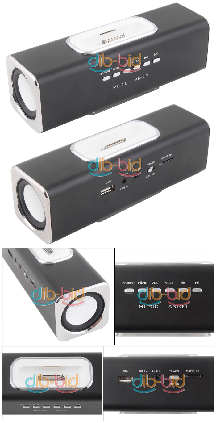 Details about Music Angel USB TF Speaker for iPod Nano iPhone #1